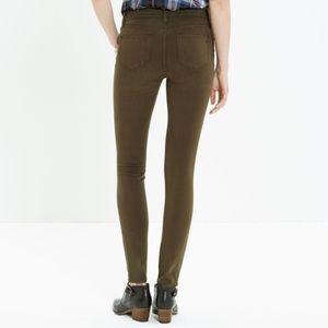 Like New Madewell Olive Skinny Skinny Pants
